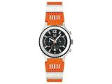 Andrew Marc Men`s Heritage Scuba Stainless Steel Case With Orange Strap Chronograph Watch