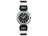 Andrew Marc Men`s Heritage Scuba Stainless Steel Case With Black Strap Chronograph Watch
