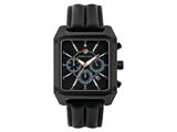 Andrew Marc Men`s Club Patrol Black Case With Black Strap Chronograph Watch