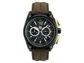 Andrew Marc Men`s G III Racer Black Case With Browm Strap Chronograph Watch