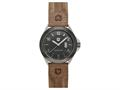Andrew Marc Men`s Heritage Roadside Stainless Steel Case With Brown Strap 3-Hand Date Watch