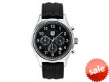 "Andrew Marc Men""s Club Blazer Stainless Steel Case With Black Strap Chronograph Watch style: A10201TP"