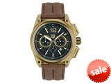 "Andrew Marc Men""s G III Racer Gold Case With Brown Strap Chronograph Watch style: A10705TP"