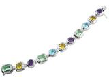 925 Sterling Silver 7.5 Inch Multi Stone Bracelet