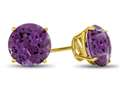 7x7mm Round Amethyst Post-With-Friction-Back Stud Earrings