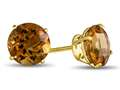 7x7mm Round Citrine Post-With-Friction-Back Stud Earrings