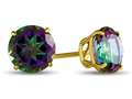 7x7mm Round Mystic Topaz Post-With-Friction-Back Stud Earrings