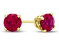 4.5x4.5mm Round Created Ruby Post-With-Friction-Back Stud Earrings