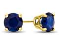 4.5x4.5mm Round Sapphire Post-With-Friction-Back Stud Earrings