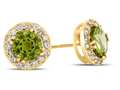 6x6mm Round Peridot Post-With-Friction-Back Earrings