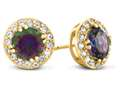 6x6mm Round Mystic Topaz Post-With-Friction-Back Earrings