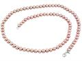 7.5-8.00mm Freshwater Pink Potato Cultured Pearls 24 Inch Necklace