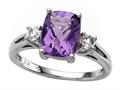 9x7mm Antique Shaped Amethyst and White Topaz Ring