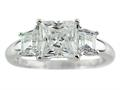 7x7mm White Cubic Zirconia Ring