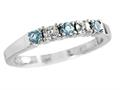 2.5mm Aquamarine and Diamond Band Ring
