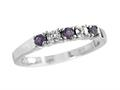 2.5mm Amethyst and Diamond Band Ring