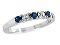2.5mm Created Sapphire and Diamond Band Ring