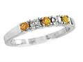 2.5mm Citrine and Diamond Band Ring
