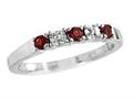 2.5mm Garnet And Diamond Band Ring