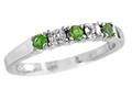 2.5mm Peridot and Diamond Band Ring