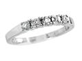 2.5mm White Topaz and Diamond Band Ring