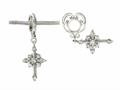 Storywheel Diamond Cross Dangle Bead / Charm