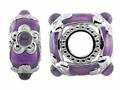 Storywheel® Light Purple Enamel And Amethyst Bead / Charm