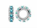 Storywheel® Swiss Blue Topaz Birthstone Bead / Charm