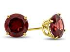 7x7mm Round Garnet Post-With-Friction-Back Stud Earrings Style number: E4043G10KY