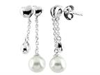 6mm Drop Freshwater Cultured Pearl Post-With-Friction-Back Earrings Style number: E7795PRLWHT