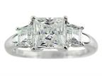 7x7mm White Cubic Zirconia Ring Style number: R7986CZ