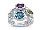 Amethyst, Peridot, and Blue Topaz Ring Style number: R8545MUL