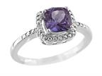 6x6mm Cushion Shaped Amethyst Ring Style number: R8625SPA