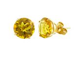 14k Yellow Gold 8mm Round Citrine Stud Earrings style: E3771C