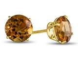 7x7mm Round Citrine Post-With-Friction-Back Stud Earrings style: E4043C10KY