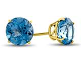 7x7mm Round Swiss Blue Topaz Post-With-Friction-Back Stud Earrings style: E4043SW10KY