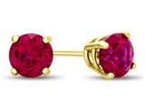 4.5x4.5mm Round Created Ruby Post-With-Friction-Back Stud Earrings style: E4501CRR14KY