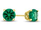 4.5mm Round Simulated Emerald Post-With-Friction-Back Stud Earrings style: E4501SIME14KY