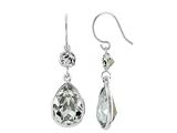 Color Craft™ 14x10 mm Pear Shape with 5mm Square Clear Genuine Swarovski Crystals Drop Ear Wire Earrings style: E7175SW