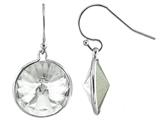 Color Craft 14mm Round Clear Crystal Genuine Swarovski Crystal Drop Ball Ear Wire Earrings