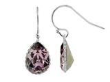 Color Craft 14x10 mm Pear Shape Antique Pink Genuine Swarovski Crystal Drop Ear Wire Earrings