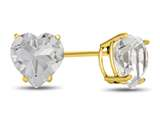 7x7mm Heart Shaped White Topaz Post-With-Friction-Back Stud Earrings style: E7975WT10KY