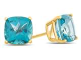 7x7mm Cushion Coated Paraiba Topaz Post-With-Friction-Back Stud Earrings style: E8053PAR14KY