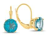7x7mm Round Coated Paraiba Topaz Lever-back Earrings style: E8116PAR14KY
