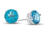 6x6mm Round Coated Paraiba Topaz Post-With-Friction-Back Stud Earrings style: E8156PAR