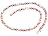 7.5-8.00mm Cultured Freshwater Pink Potato Pearls 24 Inch Necklace