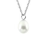 7.5mm White Rice Cultured Pearl Pendant style: P7033PRL