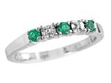 2.5mm Created Emerald Band / Ring
