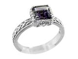 6x6mm Amethyst Ring