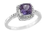6x6mm Antique Shaped Amethyst Ring style: R8625SPA
